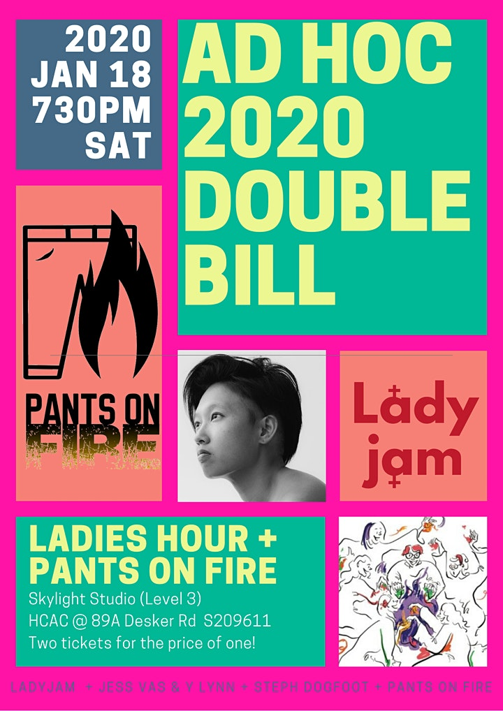 Comedy Double Bill - Ladies' Hour + Pants on Fire  image