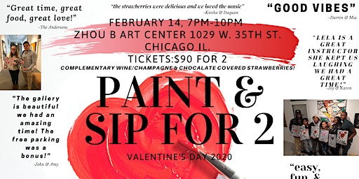 Valentines Day Paint And Sip For 2