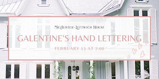 Galentine's Handlettering  Class