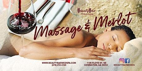 Merlot and Massage tickets