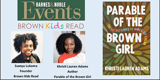 Parable of the Brown Girl: Panel Discussion , Author Talk  & Book Signing!