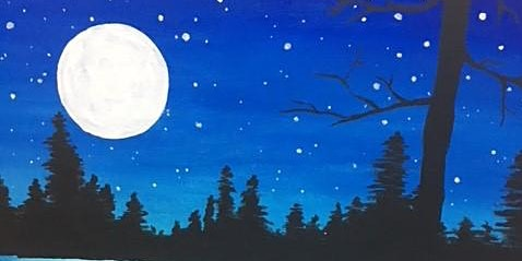 Paint 'N Sip - Winter Blue Moon - BYOB