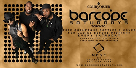 BARCODE SATURDAYS Downtown Toronto's #1 Party tickets