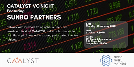 CATALYST Venture Capital Night -  Featuring Sunbo Partners tickets