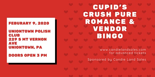 Cupid's Crush Pure Romance Vendor Bingo 2020!