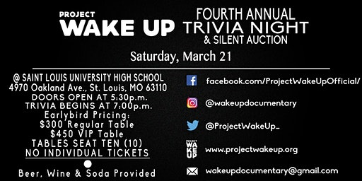 Project Wake Up's Fourth Annual Trivia Night