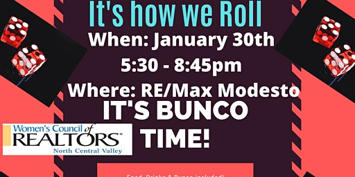 Bunco, It's how we ROLL!