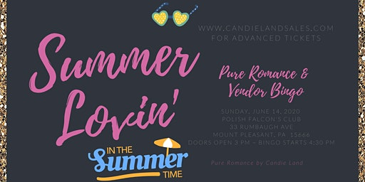 Summer Lovin' Pure Romance Vendor Bingo 2020!