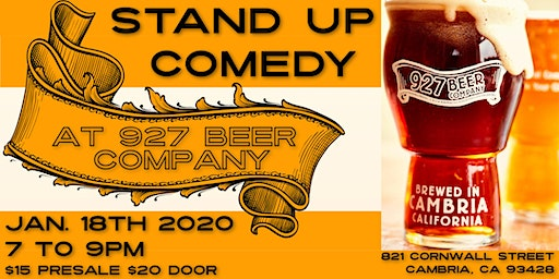 7 to 9   Stand Up Comedy   @ 927 Beer Company