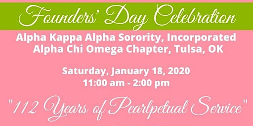 ALPHA CHI OMEGA CHAPTER 2020 FOUNDERS' DAY AND RECLAMATION