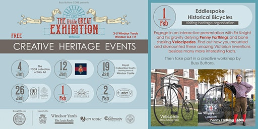 Eddiespoke Historical Bicycles at 'The little GREAT exhibition' - Windsor