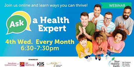 Ask the Health Expert - Online Evening - Anxiety tickets