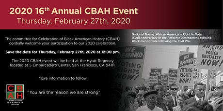 16th Annual 2020 CBAH Event tickets
