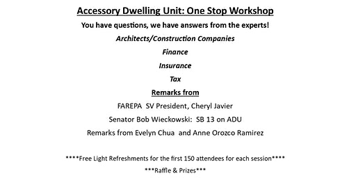 Accessory Dwelling Units One Stop Workshop