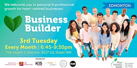 YHE Business Builder - Edmonton - Managing Stress & Energy tickets