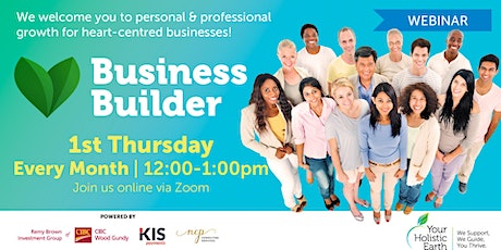 YHE Business Builder - Online Noon - Managing Stress & Energy tickets