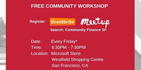 Financial Fitness - Retirement Planning  - Community Finance SF - Jan 24 tickets