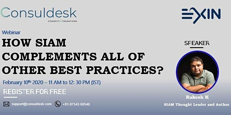 How SIAM complements all of other best practices? Tickets