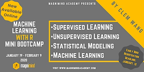 Machine Learning with R Mini Bootcamp (4 days - 12 hours)(Available Online) tickets