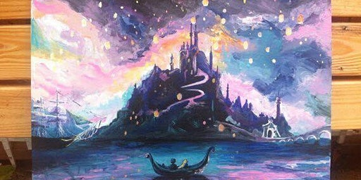 Sunset Rapunzel Paint Night