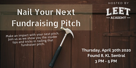 Nail Your Next Fundraising Pitch tickets