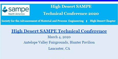 High Desert SAMPE Technical Conference 2020 tickets