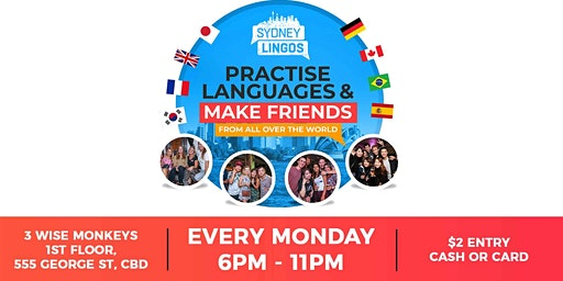 EVERY Monday - Sydney Lingos Language Exchange