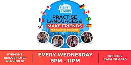 EVERY Wednesday - Sydney Lingos Language Exchange tickets