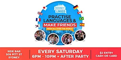 EVERY Saturday - Sydney Lingos Language Exchange tickets