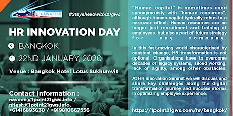 HR Innovation Day in Bangkok on 17 April 2020 tickets