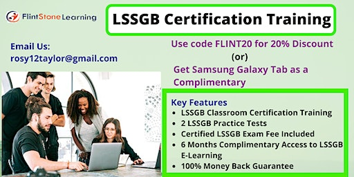 LSSGB Certification Training Course in Pittsburgh, PA