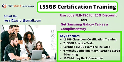 LSSGB Certification Training Course in Sacramento, CA