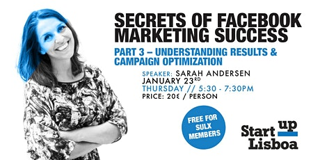 Secrets of Facebook Marketing Success, Part 3 - Understanding Results tickets