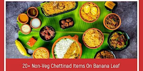 Aachi Kari Virunthu - 20+ Chettinad Non Veg Items on Banana Leaf tickets