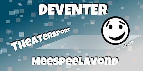 Deventer Theatersport meespeelavond 03-04-2020 tickets