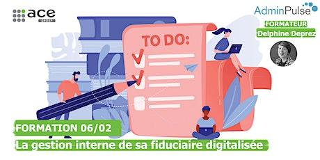 Formation Admin Pulse - La gestion interne d'une fiduciaire digitalisée billets
