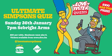 The Ultimate Simpsons Quiz | 2020 tickets