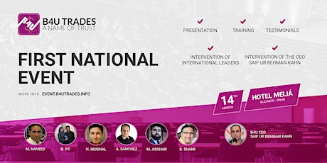 1st B4U Trades National Event in Alicante (Spain) tickets