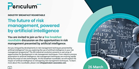 The Future of Risk Powered by Artificial Intelligence tickets