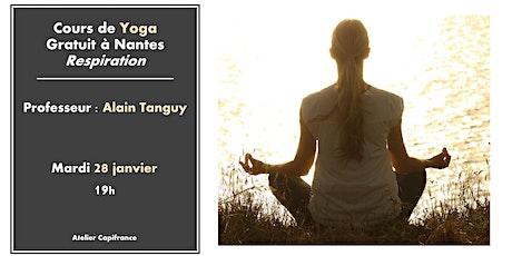 Cours de Yoga Gratuit à Nantes : Respiration tickets