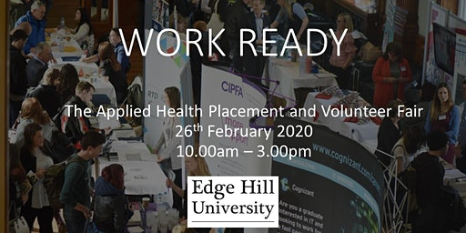 Work Ready: Applied Health Volunteer and Placement Fair
