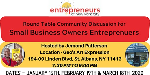 Open Discussion Round Table For Business Owners (Jan - March, 2020)
