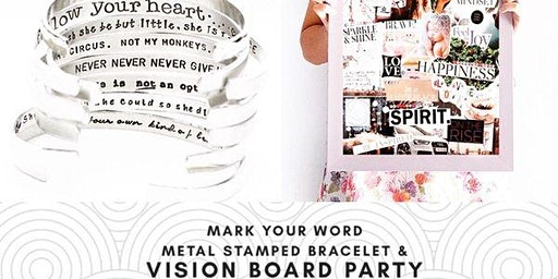 Vision Board Party + Mark Your Word on a Bracelet