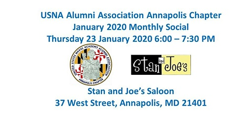 January 2020 USNA Alumni Association Annapolis Chapter Monthly Social