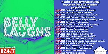 Belly Laughs with Bristol24/7 at The Cauldron: Three course meal and comedy tickets