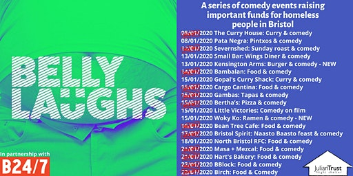 Belly Laughs with Bristol24/7 at The Cauldron: Three course meal and comedy