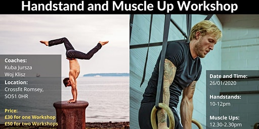 Handstand and Muscle Up Workshop in Romsey (Open to All Abilities)