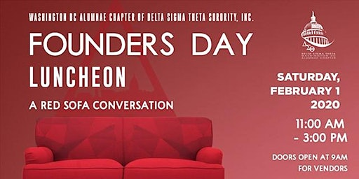 FOUNDERS DAY LUNCHEON: A RED SOFA CONVERSATION