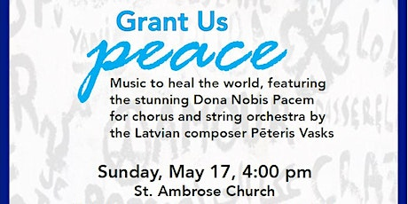 Grant Us Peace - May 17 - Grosse Pointe Park tickets