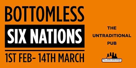 SIX NATIONS : ITALY VS SCOTLAND - Bottomless KO: 1415 tickets